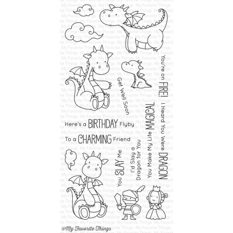 My Favorite Things Magical Dragons Clear Stamps -Drachen