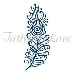 Tattered Lace Peacock Feather Pfauenfeder