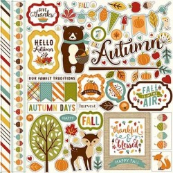 Echo Park Fall is in the Air 12x12 Inch Element Sticker