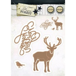 Studio Light Embossing Die Cut Stencil Frozen Forest nr 13