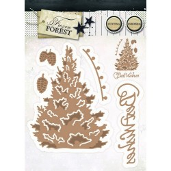 Studio Light Embossing Die Cut Stencil Frozen Forest nr 14
