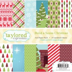 Taylored Expressions Build a Scene - Christmas 6x6 Paper Pack