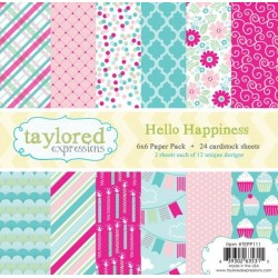 Taylored Expressions Hello Happiness 6x6 Inch Paper Pack