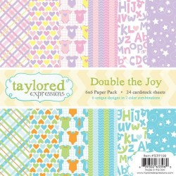 Taylored Expressions Double The Joy 6x6 Inch Paper Pack