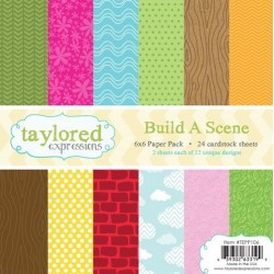 Taylored Expressions Build A Scene 6x6 Inch Paper Pack