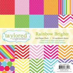 Taylored Expressions Rainbow Brights 6x6 Inch Paper Pack