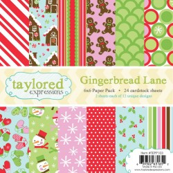 Taylored Expressions Gingerbread Lane 6X6 Inch Paper Pack