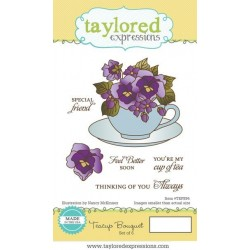 Taylored Expressions Teacup Bouquet