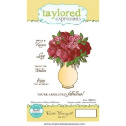 Taylored Expressions Rose Bouquet  Vase