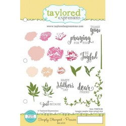 Taylored Expressions Simply Stamped - Peonies Ranunkeln