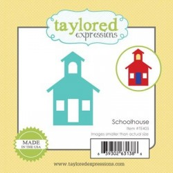 Taylored Expressions Little Bits Schoolhouse Haus Schule