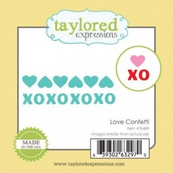 Taylored Expressions Little Bits Love Confetti Liebe