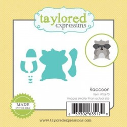 Taylored Expressions Little Bits - Raccoon Waschbär