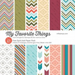 My Favorite Things Free Spirit 6x6 Inch Paper Pack
