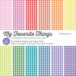 My Favorite Things Tiny Check Brights 6x6 Inch Paper Pack