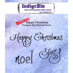 IndigoBlu Frohe Weihnachten Happy Christmas A7 Rubber Stamps