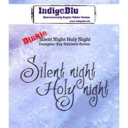 IndigoBlu Silent Night Holy Night A7 Rubber Stamps