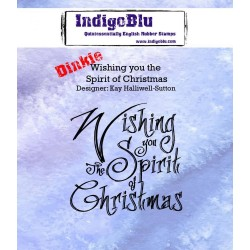 IndigoBlu Wishing You The Spirit Of Christmas A7 Rubber Stamps