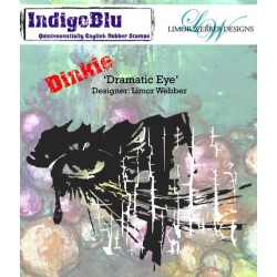 IndigoBlu Dramatic Auge Eye A7 Rubber Stamps