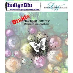 IndigoBlu Ink Splat Schmetterling Butterfly A7 Rubber Stamps