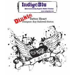 IndigoBlu Tattoo Heart Herz A7 Rubber Stamps