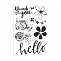 Kaiser craft clear stamp Wildflower