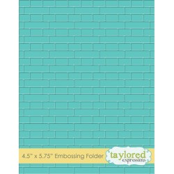 Taylored Expressions Subway Tiles Embossing Folder