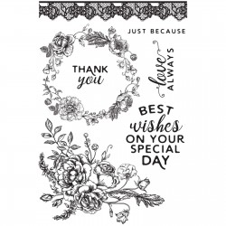 Kaiser craft clear stamp Sage and grace