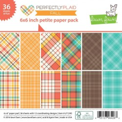 Lawn Fawn Perfectly Plaid Fall 6x6 Inch Paper Pad