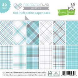 Lawn Fawn Perfectly Plaid Winter 6x6 Inch Paper Pad