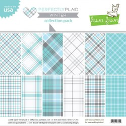 Lawn Fawn Perfectly Plaid Winter 12x12 Inch Collection Pack