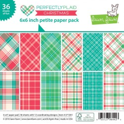 Lawn Fawn Perfectly Plaid Christmas 6x6 Inch Paper Pad