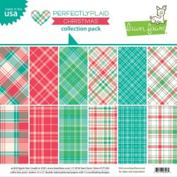 Lawn Fawn Perfectly Plaid Christmas 12x12 Inch Collection Pack
