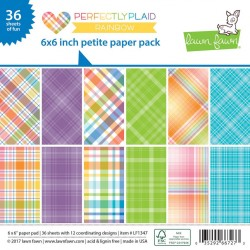 Lawn Fawn Perfectly Plaid Rainbow 6x6 Inch Paper Pad
