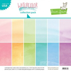Lawn Fawn Watercolor Wishes 12x12 Inch Collection Pack