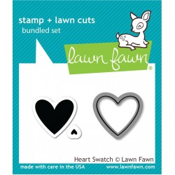 Lawn Fawn Heart Swatch Stamp & Die