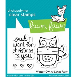 Lawn Fawn Winter Owl
