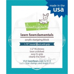 Lawn Fawn Fawndamentals - Acrylic Stamping Block 2.5 Inch Round