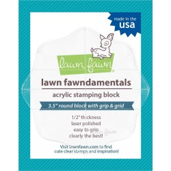 Lawn Fawn Fawndamentals - Acrylic Stamping Block 3.5 Inch Round