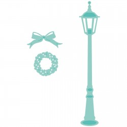 Kaisercraft decorative die lamp post Christmas