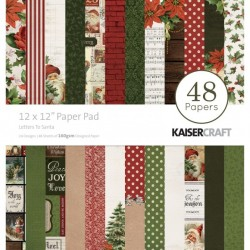 """Kaisercraft paper pad 12x12"""" Letters to santa"""