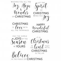 Kaisercraft clear stamp sentiments traditional
