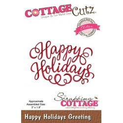 Scrapping Cottage Happy Holidays Greeting