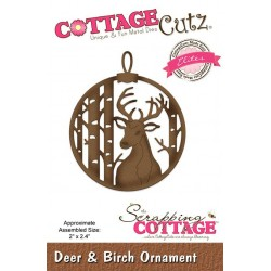 Scrapping Cottage Deer & Birch Ornament