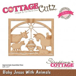 Scrapping Cottage Baby Jesus With Animals Tiere