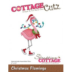 Scrapping Cottage Christmas Flamingo