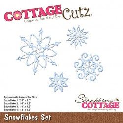 Scrapping Cottage Snowflakes Set Schneeflocken