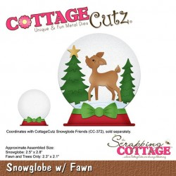 Scrapping Cottage Snowglobe with Fawn Schneekugel Reh