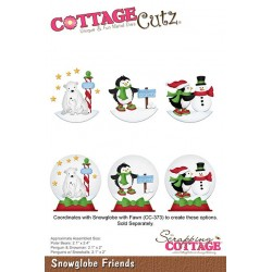 Scrapping Cottage Snowglobe Friends Freunde Schneekugel