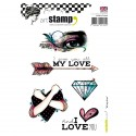 Carabelle cling stamp A6 all my love